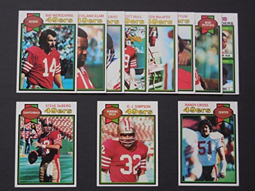 San Francisco 49ers 1979 Topps Football Team Set **Scott Bull, Chuck Crist, Randy Cross, Steve DeBerg, Cleveland Elam, Ken MacAfee, O.J. Simpson, Freddie Solomon, Ray Wersching, Tom Wittum ()