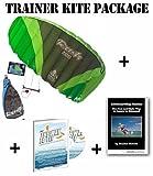 Trainer Kite Package: HQ Rush IV Pro 3 Meter + Kitesurfing Book (Bundle) New 2015 Model