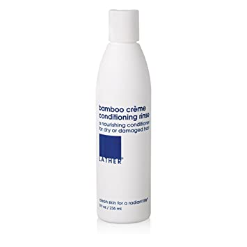 8409c189d36f LATHER Bamboo Crème Conditioning Rinse 8 oz - Natural Hair Conditioner,  Contains Lavender, Citrus and...