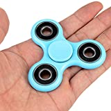 FridayFun For Tri-Spinner Fidget Blue EDC ADHD Foucus Toy With Smaller Friction and Longer Rotation,High Speed Small Bearing Anxiety Relief Toys
