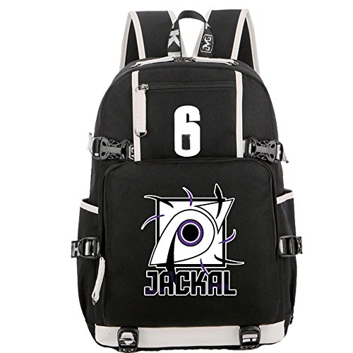Backpack Bag Cosplay School Black Oxford Cloth Bags (Color 2)