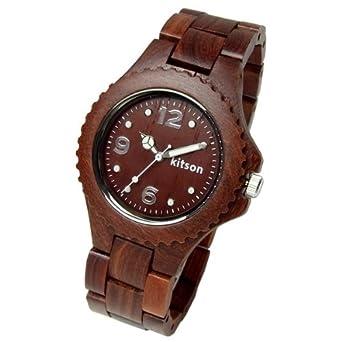 cf7007737c Amazon   [キットソン]Kitson キットソン 腕時計 レディース レディス ブランド レディース腕時計 ウッド 木製 レディス 腕時計  ブラウン 茶 KW0233N [国内正規品] ...