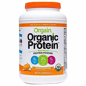 Orgain Organic Plant Based Protein Powder, Creamy Chocolate Fudge – Vegan, Low Net Carbs, Non Dairy, Gluten Free, Lactose Free, No Sugar Added, Soy Free, Kosher, Non-GMO 2.74lb, PeanutButter