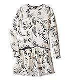 Roberto Cavalli Kids Girl's Long Sleeve All Over Print Drop Waist Dress (Big Kids) White/Multi 10