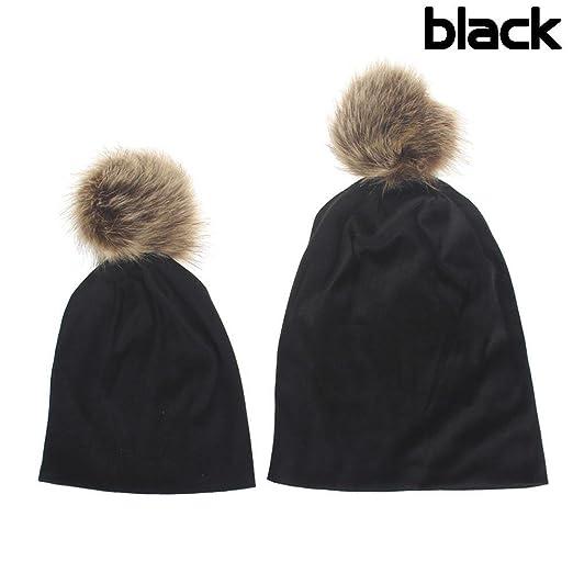 0d89c79db45 FairySu 2PCS Parent-Child Hat Warmer