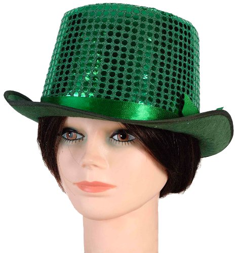 Forum Sequin Top Hat, Green, One (Green Top Hats)