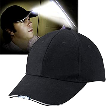 Aoneky Gorra de Béisbol con 5 Luces LED Unisex - Gorra Ajustable ...
