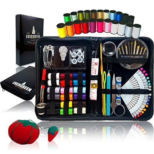 Evergreen Art Supply Sewing Kit Bundle with Accessories (Sewing Box With Accessories)