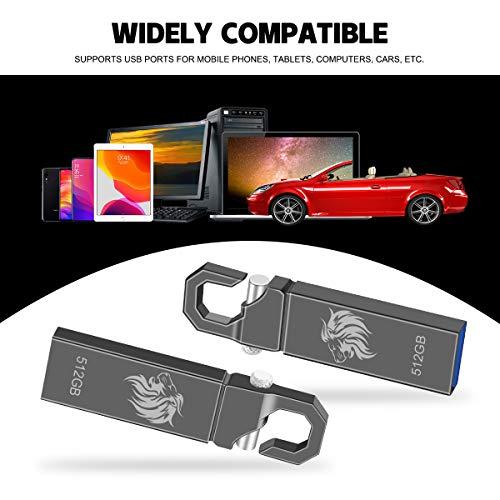 Memory Stick 512GB Thumb Drive USB 2.0 Jump Drive USB Flash Drive 512GB Photo Stick (Grey 512GB)