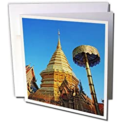Wa Phra That Doi Suthep Rajvoravihara, Thailand - Greeting Cards, 6 x 6 inches, set of 12 (gc_75460_2)