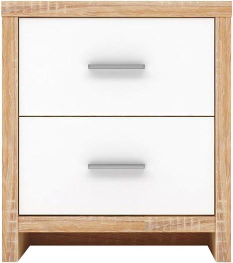Nachttisch mit 2 Schubladen kommode Sideboard Anrichte holz Sonoma