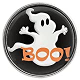 jack and ginger - Chunk Snap Charm Halloween Ghost Boo 20mm, 3/4