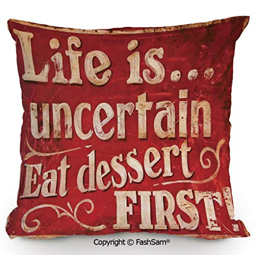 FashSam Throw Pillow Covers Retro Classic Decorative Design for Restaurant and Food Symbols Signs Funny Diner Supper Decorative for Couch Sofa Home Decor(20