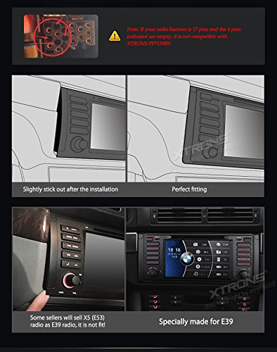 XTRONS 7 Inch HD Digital Touch Screen Car Stereo Radio In-Dash DVD Player with GPS Navigation CANbus for BMW 5 Series X5 Reversing Camera Included by XTRONS (Image #4)