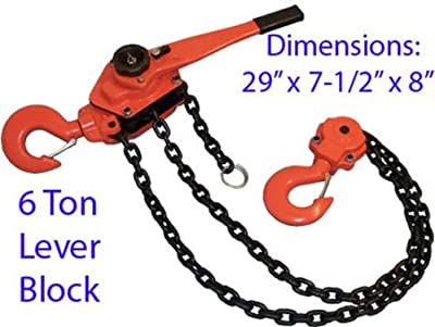 6 Ton Lever Block Chain Hoist Lift Ratchet Puller Tool Free Shipping