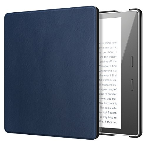 TiMOVO All-New Kindle Oasis Case (9th Generation, 2017 Release) - Lightweight Slim PU Leather Protective Case with Auto Wake & Sleep Function for Amazon Kindle Oasis E-reader 7 Inch, Indigo