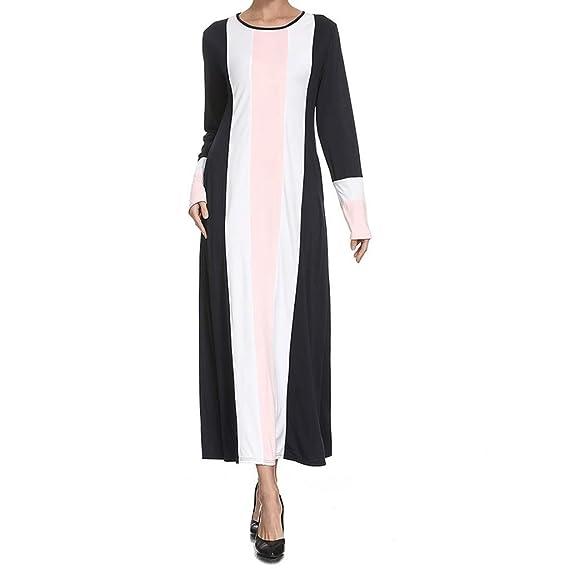NPRADLA Large Falda Musulmán Medio Oriente Vestido Maxi ...