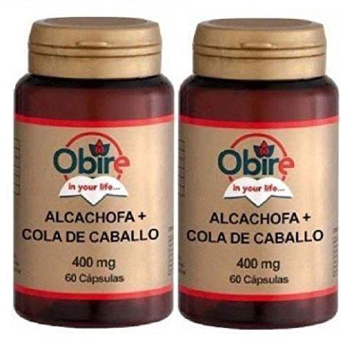 ALCACHOFA + COLA de CABALLO 430 mg. 2 x 60 Cáps. OBIRE