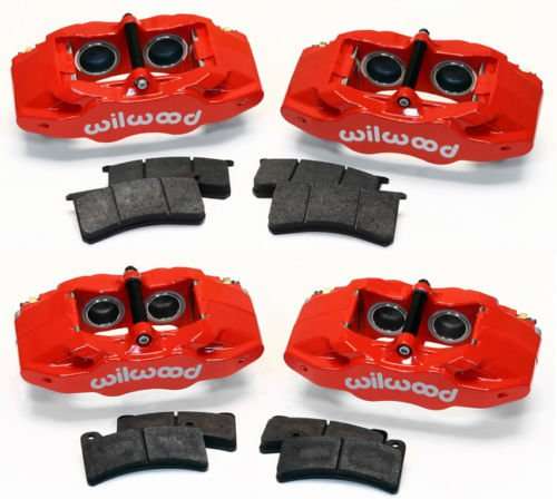 NEW WILWOOD RED FRONT & REAR BRAKE CALIPERS & PADS for sale  Delivered anywhere in Canada