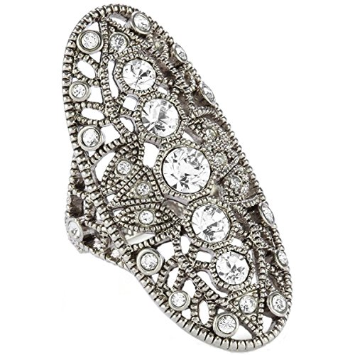 House of Harlow by Nicole Richie Womens Crystal Pave Oval Fashion Ring - Richie Glasses Nicole