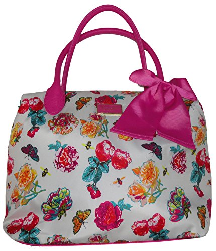 Betsey Johnson Nylon Tote White Floral by Betsey Johnson