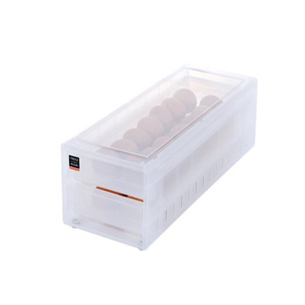 Blue-B Egg Holder - Refrigerator Storage Tray Egg Holder Container Drawer 24Egg, Clear
