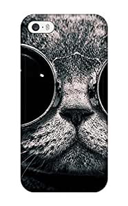 ImhXuXE8292fKFVk Anti-scratch Case Cover JessicaBMcrae Protective Cat With Sunglasses Case For Iphone 5/5s