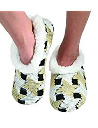 Snoozies Womens Multi Artisan Comfy Soft Fleece Slipper Socks