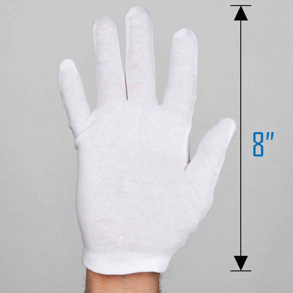 Selizo 6 Pairs White Cotton Gloves For Cosmetic Moisturizing Dry