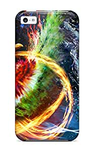 Fashionable TSPst3057uVDIP Iphone 5c Case Cover For Ho Oh And Lugia Protective Case