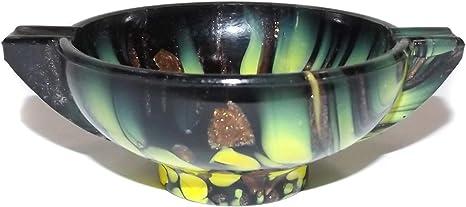 ANTIQUE VINTAGE MURANO ART GLASS VARIOUS COLORS ITALIAN ASHTRAY BOWL