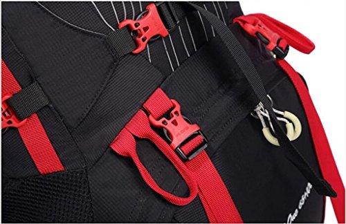 sacchetti di alpinismo 70L grande capacità di sport all'aria aperta spalla borsa uomini e donne borsa Itinerari ( colore : Nero , dimensioni : 75L )