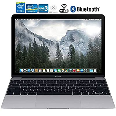"""Apple MacBook MJY32LL/A 12"""" Laptop with Retina Display 256 GB, Space Gray - (Certified Refurbished)"""