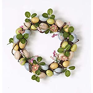 """Worth Imports 15"""" Easter W/Eggs ON Natural TWIG Base Wreath Multi 116"""