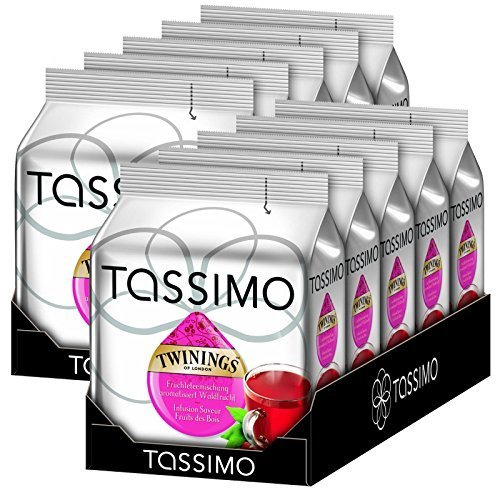 Bosch Tassimo 'Twinings Forest Fruits Tea' 16 T Disc Coffee Machine Capsules (Pack Of 10) by Bosch (Image #1)