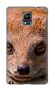 Throbbing Shock-dirt Proof Animal Rock Hyrax Mongoose Case Cover Design For Galaxy Note 4 - Best Lovers