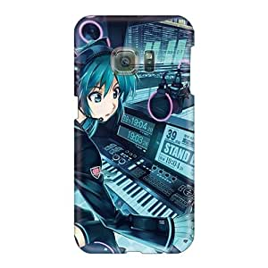 WayneSnook Samsung Galaxy S6 Perfect Cell-phone Hard Cover Support Personal Customs Attractive Hatsune Miku Anime Dj Series [Zlv1081HLFz]