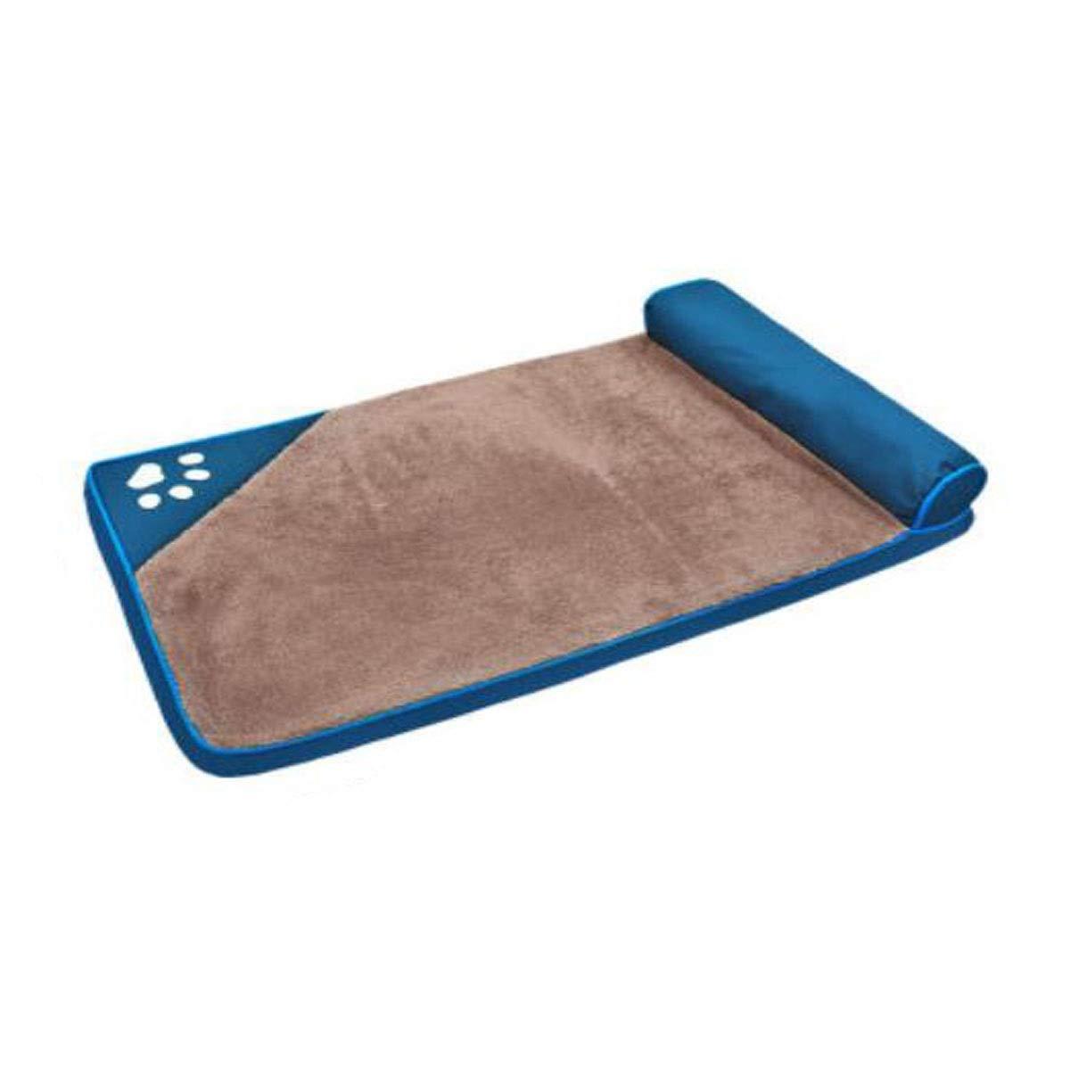 Light blue L Jiansheng Dog Bed, Large and Medium Dog Ortopedia Addormentata, Weable Folding on the Floor, Car Dog Cage, Dark Blue, Light Blue L (Colore: Blu  aro, Dimensione: L)