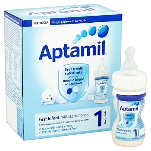 Aptamil 1 First Milk Starter Pack 6X70ml Ready To Feed Liquid Brand Aptamil