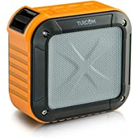 Turcom AcoustoShock Mini Wireless Portable Speaker Mini Bluetooth Mobile Outdoor Indoor, 3 Watt Power IPX6 Certified Water-Resistant Dust-Proof Shock-Proof With Bike Handle Bar Clamp, 10 Hour Playtime