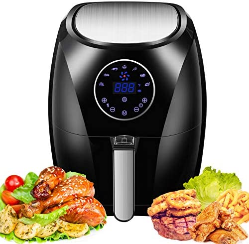 Power Air Fryer Oven, 3.4 Qt Nonstick Fry Baskets, 1400W Electric Hot Air Stove, Oilless Air Cooker, Oven Cookers with Temperature Control