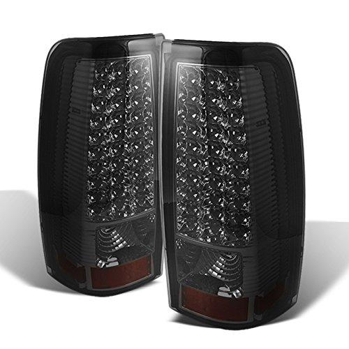 (For 1999-2002 Chevy Silverado 09-03 GMC Sierra Pickup Truck Smoke G2 LED Tail Lights Brake Lamps)