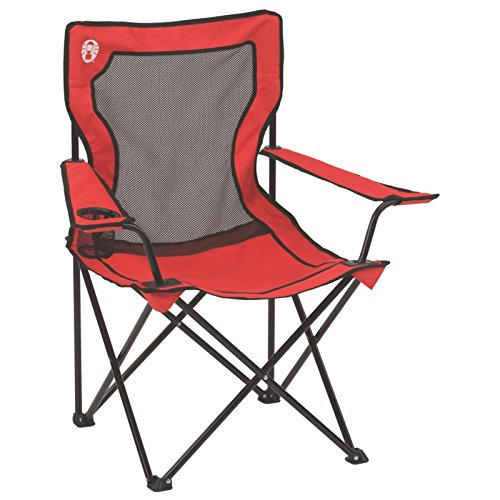 Coleman Broadband Mesh Quad Camping Chair - Folding Outdoor Chair