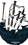 McWilliams PROFESSIONAL SCOTTISH HIGHLAND BAGPIPE IVORY MOUNTS BLACK WATCH TARTAN AND HARDBOX