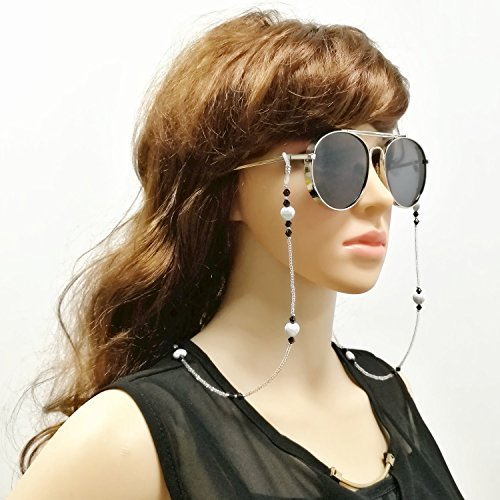 Kalevel Eyeglass Chain Beaded Eyeglass Straps Eyewear Chain Glasses Strap Women