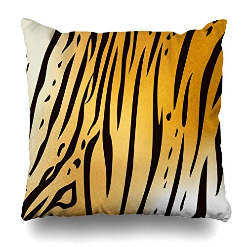 (GOOESING Yellow Zebra Stripes Square Zippered Pillow Cover 24x24 in Creative Home Decor Cushion Case Cover for Sofa Couch Bed Double Sided)