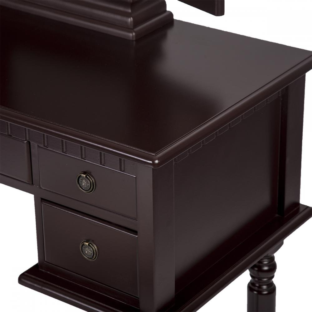 PayLessHere Makeup Vanity Table Set Tri-Folding Mirror Makeup Table With 5 Drawers by PayLessHere (Image #3)
