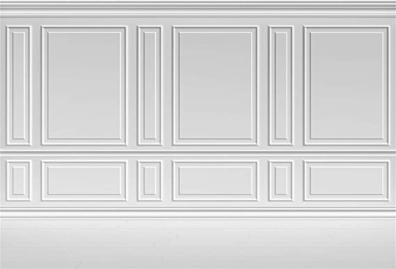 GoEoo Empty Room Architectural Background 10x8ft Vinyl Photography Background Classic Style White Wall Wooden Floor Houses Flats Interior Vintage White 3D Blank Decor Elegant Backdrop