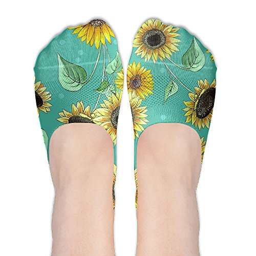 ROSE Sunflower Women's Black Friday Breathable Low Cut Short Boat Ankle Socks