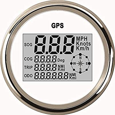 Resistente al agua Digital GPS velocímetro odómetro para Auto Marino Camión con luz de fondo 3 – 3/8